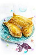 Recette de poissons d'avril feuilletés saumon et épinard