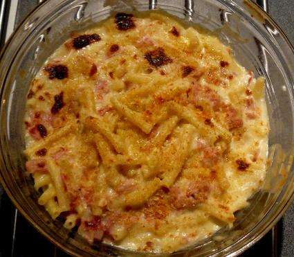 Recette de macaronis au gratin
