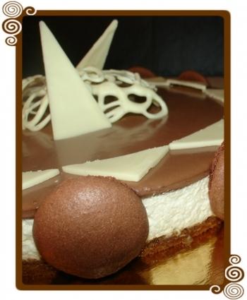 Recette de bavarois au mascarpone vanillé et chocolat sur biscuit ...