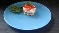 Recette de concombre au surimi, tomate et jambon