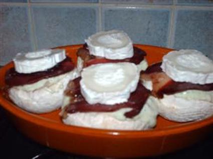 Recette de champignons farcis au magret et fromage de chèvre