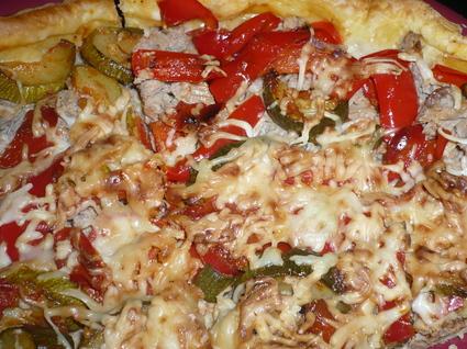 Recette de tarte thon et légumes du soleil