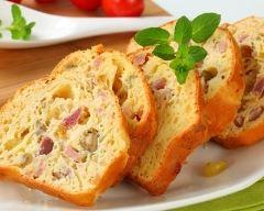 Recette cake au jambon et olives