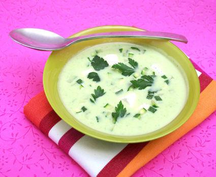 Recette de soupe de courgettes à la vache qui rit®