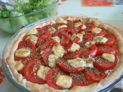 Recette de tarte à la tomate et au gouda