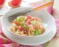 Recette risotto au pamplemousse et fromage râpé