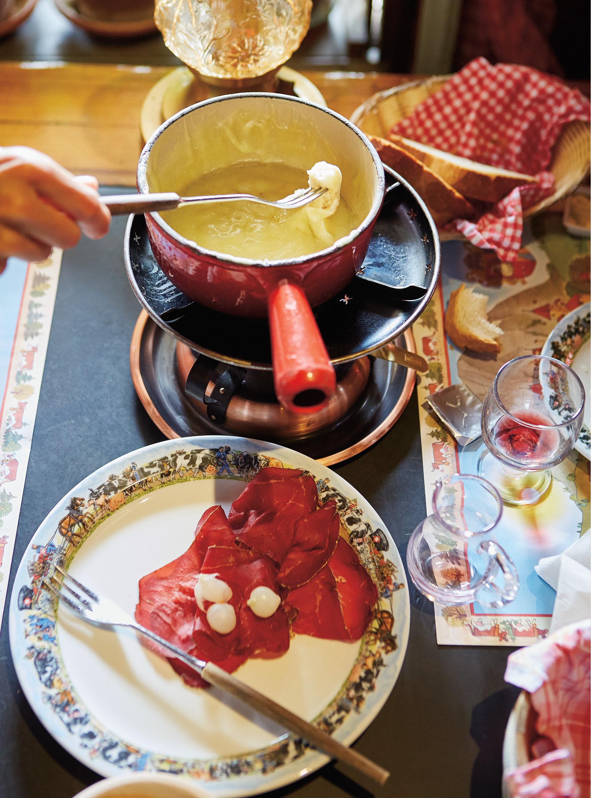 Fondue au fromage moitié-moitié (gruyère et vacherin)   ricardo