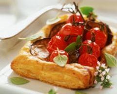 Recette feuilletés aux tomates et aubergines