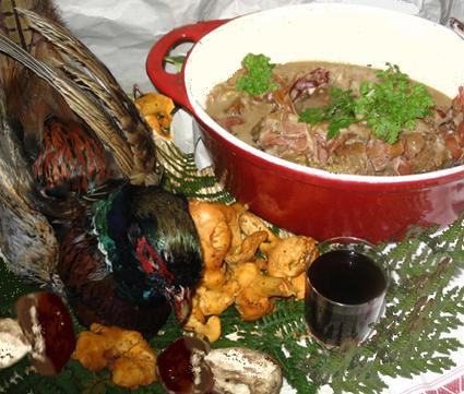 Recette de faisan en cocotte à la forestière