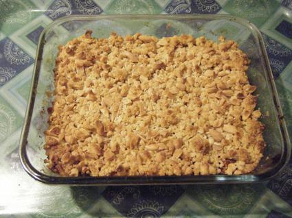 Recette de crumble aux pommes, amandes et cannelle