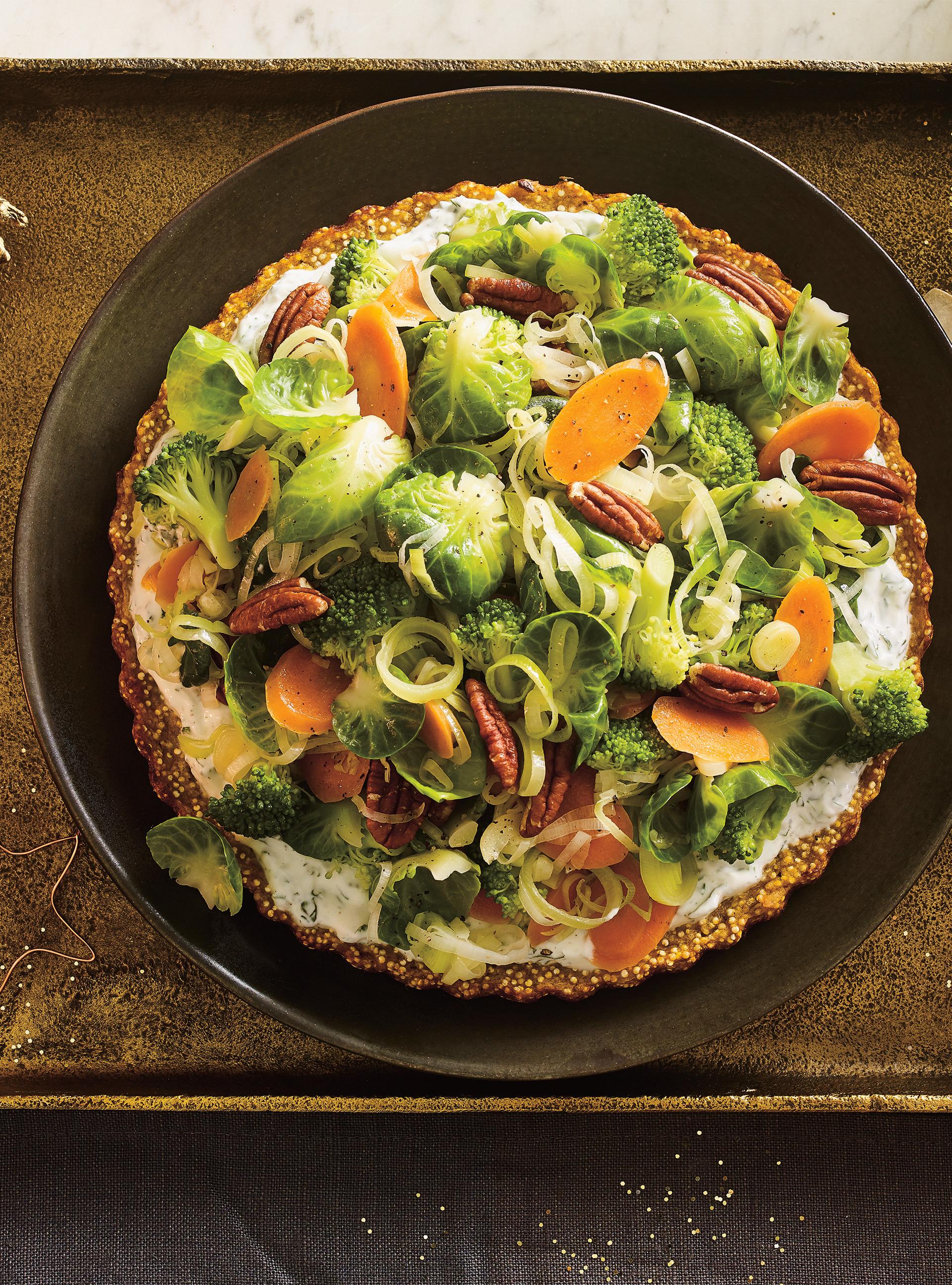 Tourte végé au quinoa et à la patate douce   ricardo