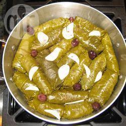 Recette feuilles de vigne farcies à l'agneau de syrie – toutes les ...