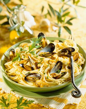 Recette de spaghettis aux moules