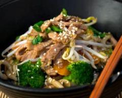 Recette porc au wok minceur