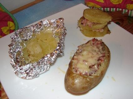 Recette de pommes de terre farcies à la paysanne