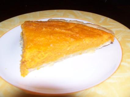 Recette de tarte aux carottes parfumée au kirsch