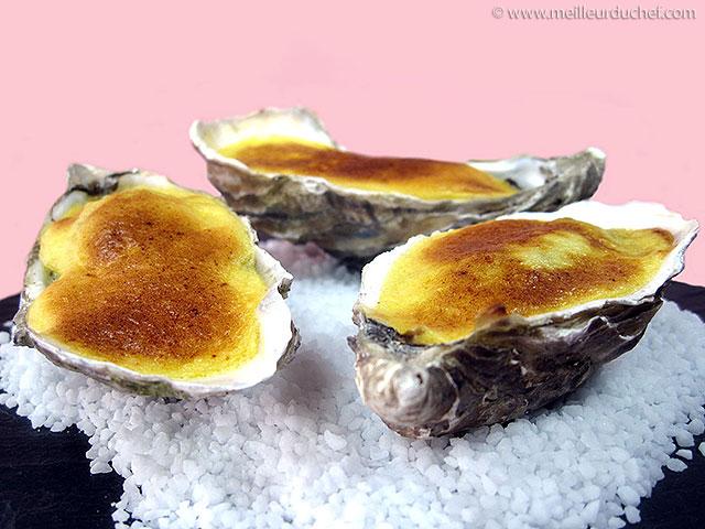 Huîtres gratinées au sabayon de champagne  la recette illustrée ...