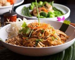 Recette pad thaï (nouilles de riz sautées au poulet)