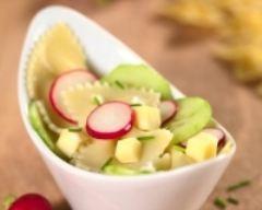 Recette salade de ravioles au concombre, radis et gouda, sauce au ...