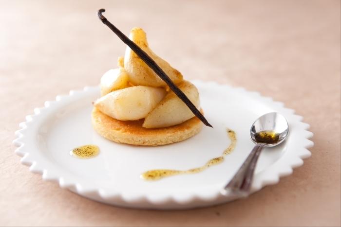 Recette de sabl fin au p tisson vinaigrette vanille et - Cuisiner patisson blanc ...