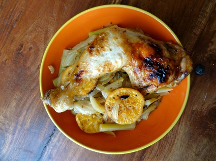 Recette de poulet, fenouil et clémentine