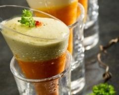 Recette verrines de crème de carottes et mousse de chèvre
