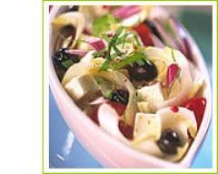Recette salade d'endives à la tomate et feta