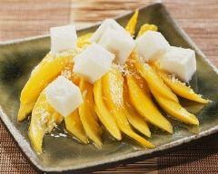 Recette salade de mangue et cubes de gelée de coco
