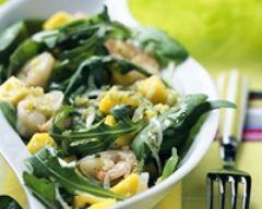 Recette salade de gambas et de mangues