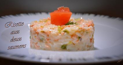 Recette de risotto aux deux saumons
