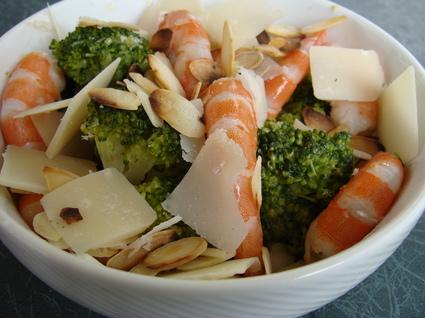 Recette de salade de brocolis et crevettes