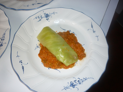 Recette de petits rouleaux de langoustines au chou