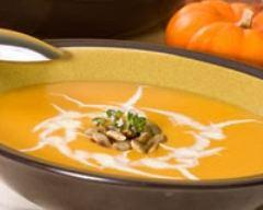 Recette soupe au potiron et à la crème légère