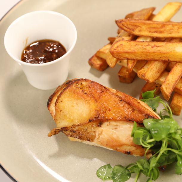 Recette blanc de volaille rôti, pommes frites et ketchup maison