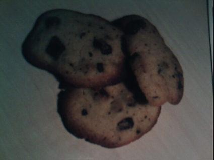 Recette de cookies au chocolat au lait et poudre d'amandes