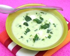 Recette soupe glacée de courgettes à la vache qui rit