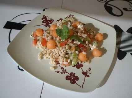 Recette de salade fraîcheur blé et melon