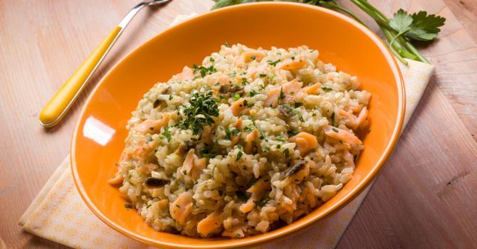 Recette de risotto au saumon et à l'aneth