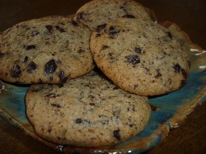 Recette de cookies amandes et éclats de chocolat