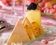Recette crousti de foie gras aux noix, gelée de vin jaune et pomme ...