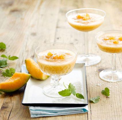 Recette de sorbet melon et alpro coco original
