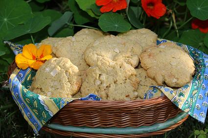 Recette de cookies aux amandes et chocolat blanc