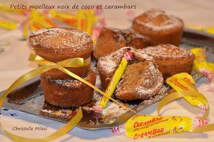 Recette de petits moelleux noix de coco et carambars