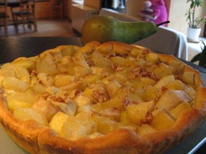 Recette de tarte pommes, poires et fruits secs