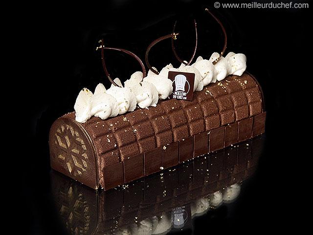 Bûche de noël carrés de chocolat  notre recette illustrée ...