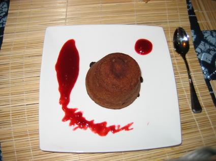 Recette moelleux au chocolat coeur coulant framboises (recettes ...