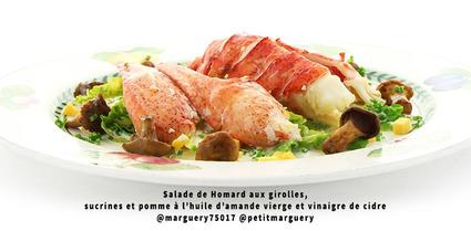 Recette de salade de homard aux girolles, pomme à l'huile d ...