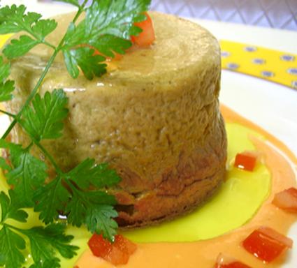 Recette de parfait de foies de volaille, sauce à la tomate