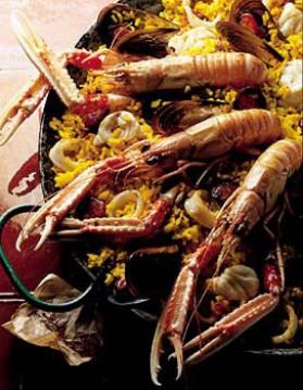 Paëlla aux fruits de mer pour 4 personnes