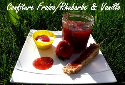 Recette de confiture rhubarbe-fraise et vanille au cooking chef
